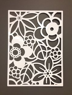 For the back patio wall. Abstract Flower Metal Wall or Garden Art Panel perfect for stained glass Stencils, Stencil Art, Stencil Patterns, Stencil Designs, Kirigami, Metal Walls, Metal Wall Art, Diy Tableau, 3d Laser Printer