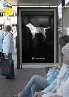 Guide Dog Campaign: See Through Dog Street Marketing, Guerilla Marketing, Effective Ads, Campaign Posters, Best Ads, Guide Dog, Branding, Creative Advertising, Pets
