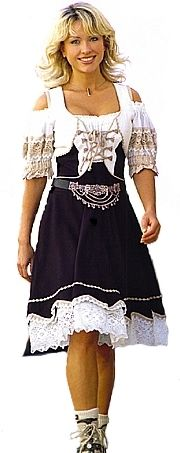 A pretty German girl in her dirndl dress, traditional costume in Bavaria, Germany. Drindl Dress, German Women, German People, German Costume, German Outfit, Learn German, Costume Contest, Festival Dress, Ethnic Fashion