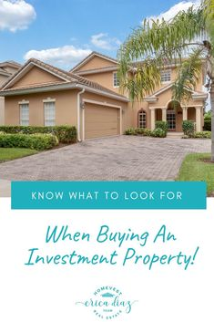 Finding the right investment property is hard work. Make sure you know what to look for when you are ready to buy investment property.