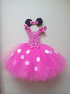 Toddler girls pink Minnie Mouse tutu dress with by TotallyTutu4You, $38.00