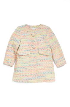 Milly Minis Tweed Coat (Toddler Girls, Little Girls & Big Girls) available at #Nordstrom