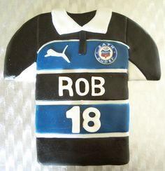 Bath Rugby Shirt Cake Cakepins Com Rugby Birthday Shirt Cake Rugby Shirt
