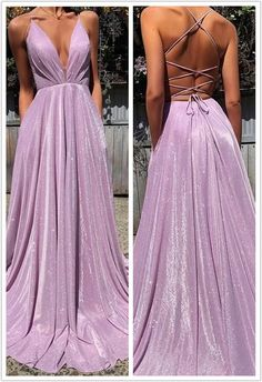 Sexy Lace A-line Prom Dresses With Spaghetti Straps Lilac Prom Dresses, Fancy Wedding Dresses, Stunning Prom Dresses, Deb Dresses, Pretty Prom Dresses, Gala Dresses, A Line Prom Dresses, Dance Dresses, Homecoming Dresses