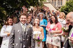 Bath Church wedding with confetti fun