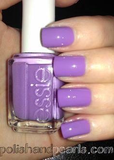 "This color reminds me of cute little easter eggs :) Looks really good when paired with Essie's ""Set in Stones"" on a nail or two."