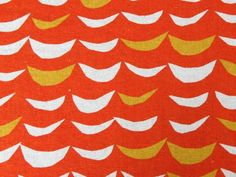 Japanese Linen Cotton Crescents - Orange