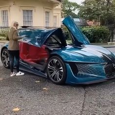 Would you buy this new 2030 concept car? Top Luxury Cars, Luxury Sports Cars, Exotic Sports Cars, Exotic Cars, Luxury Suv, Fancy Cars, Cool Cars, Weird Cars, Sexy Autos
