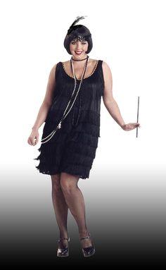 plus size flapper dress | 1920\'s Speakeasy Flapper Girl - Plus ...