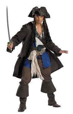 Jack Sparrow Pirate Costume 5626 Halloween Costumes