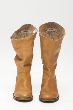 Slinger 100% leather boots in Ochre from Humanoid