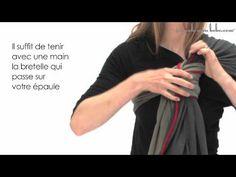 Echarpe de portage - Nœud Coulissant - JPMBB - Je Porte Mon Bébé - YouTube  Comment 3fc73fb9455