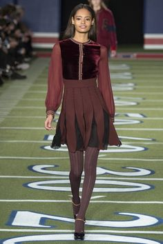 Tommy Hilfiger #NYFW AW15 American Football themed show. Love this combo.
