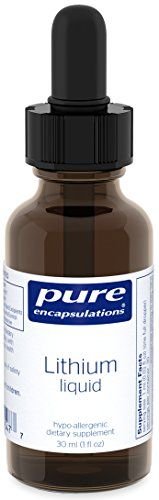 Pure Encapsulations  Lithium Liquid  Supports Cognitive Health Mood and Brain Function  30 ml *** Check out the image by visiting the affiliate link Amazon.com on image.