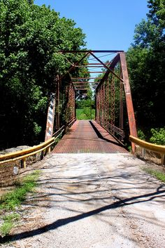 Old iron bridge over Lost River abiout mile south of Orangeville, Indiana. Bridge is 110 years old - built by Indiana Bridge Co of Muncie, Indiana in 1900 Water Under The Bridge, Small Bridge, Rope Bridge, Old Bridges, Lost River, Old Train Station, Great Lakes Region, Back Road, Covered Bridges