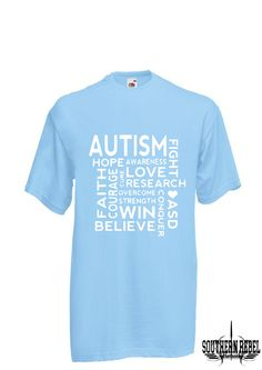 A personal favourite from my Etsy shop https://www.etsy.com/uk/listing/586295354/blue-autism-awearness-shirts-autism-mom