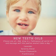 Essential oils for teething - Teething can be an especially frustrating phase for mama & baby. Essential oils can soothe & calm a teething baby or toddler. Essential Oils For Teething, Essential Oils For Babies, Doterra Essential Oils, Essential Oil Blends, Yl Oils, Natural Cough Remedies, Natural Cures, Herbal Remedies, Health Remedies