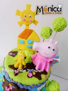 Detalle de torta de Pepa Pig, elaborado por MONICA PASTAS Y DULCES