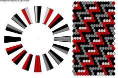 K4856 - friendship-bracelets.net.                          32 strings / 4 colours