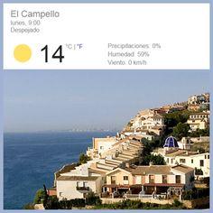 ¡Seguimos disfrutando del #veroño! Ahora a las 9h hace más fresquito pero al mediodía llegaremos a los 21ºC ☼   #CostaBlanca ¡qué lujo!
