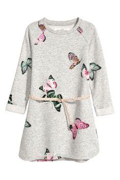 H&M Sweatshirt Dress - Light gray melange/butterflies - Kids Toddler Girl Style, Toddler Girl Outfits, Toddler Dress, Toddler Fashion, Fashion Kids, Baby Dress, Fashion Outfits, Trending Boys Clothes, Butterfly Kids