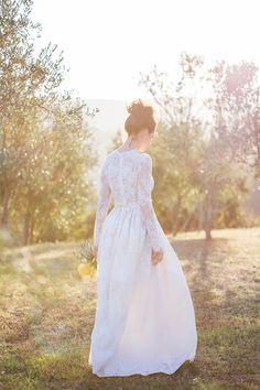 A Italian Destination Wedding In Tuscany with a Katya Katya Shehurina dress. 0013 A Tuscan Treasure