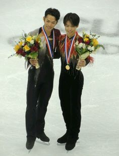 With Tatsuki Machida(JAPAN) Medal Ceremony : Cup of China 2012