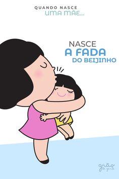 A fada do beijinho com poder de cura! 💋 #gravidez #maternidade