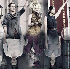 The biggest difference I saw in catching fire compared to hunger games was Effie . As you saw she was always so happy and smiling but as you notice in the picture that changed a lot exited to see mocking jay part 1 and 2 repin And like