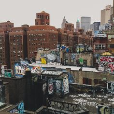 NYC roofs.
