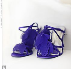 vintage t-strap heels - french print | Purple T-strap heels with chiffon petals pulled Julies favorite color ...