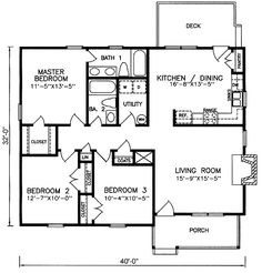 Traditional House Plan 1248 sqft