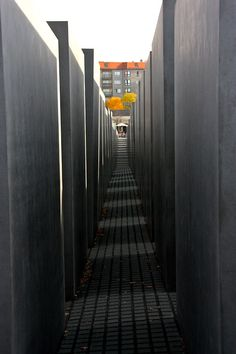 Holocaust memorial in Berlin. Walking through this and then talking with Helen was surreal