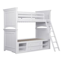 Samuel Lawrence SummerTime 2 PC Bedroom Set with Twin Size Bunk Bed + Underbed Storage Unit in White Color Toddler Bunk Beds, Kids Toddler Bed, Kid Beds, Trundle Bed With Storage, Under Bed Storage, Storage Beds, Kids Storage, White Bunk Beds, Full Bunk Beds