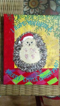 A Christmas Hedgehog! #GretaMartindale