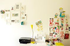 Kate's Wonderfully Small Amsterdam Space - colorful birdhouses on wall