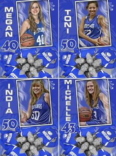 Personalized Basketball Poster - Gift Idea - Personalized sports posters, custom team collages, senior recognition banners, and team schedules for your athlete!
