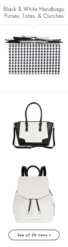 """Black & White Handbags, Purses, Totes, & Clutches"" by melzy ❤ liked on Polyvore featuring bags, handbags, tote bags, white, quilted hand bags, chanel purse, handbag purse, beach tote, beach bag and clutches"