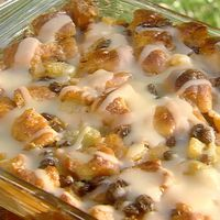 Paula Dean Krispy Kreme Bread Pudding with Butter Rum Sauce by Linda Grier