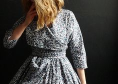 Blue/Grey Floral Liberty of London Dress by 13threads on Etsy