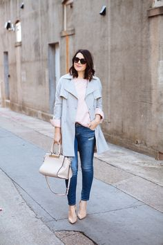 Im so drawn to soft colors this winter. Soft pinks, nudes and greys are where it is at for me...