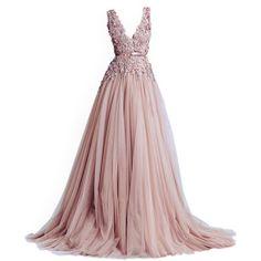 Charming V Neck Prom Dress,Tulle Evening Dress,Long Prom