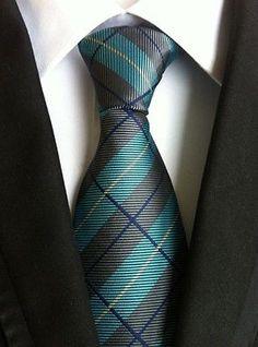 Striped Mens Tie WOVEN JACQUARD Silk Suits Ties For Men Dress Neckties