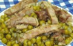 Μπιζέλι (αρακάς) με κρέας ρίφι (κατσίκι)