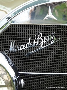 1929 Mercedes Benz 630K emblem from the 2010 Concours d'Elegance
