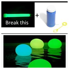 Have a glow in the dark party--glow in the dark bubbles (break glow stick and mix with bubble soup), balloons (glow stick inside a balloon), nail polish (break glow stick and mix with clear nail polish), and anything else you can think of! Awesome summer night
