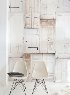 Onszelf Kids Wallpaper - White Washed Doors by Onszelf Decor, Interior Inspiration, Furniture, Interior, Interior Spaces, Home Decor, House Interior, Interior Architecture, Home Deco