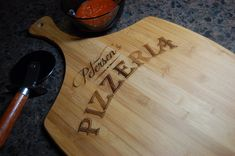Personalized pizza board  personalized by KottageInspirations