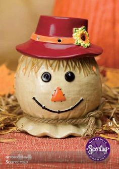 Scentsy warmer of the month for October:  Scarecrow.  Available October 1, 2013 www.teresarausch.scentsy.us