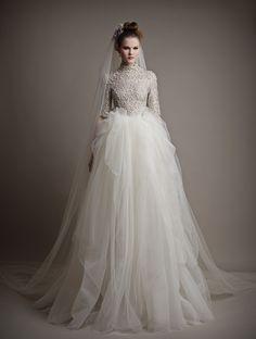 Ersa Atelier Wedding Dresses 2015. To see more: http://www.pinterest.com/modwedding/wedding-dresses/  #wedding #weddings #weddingdress #fashion